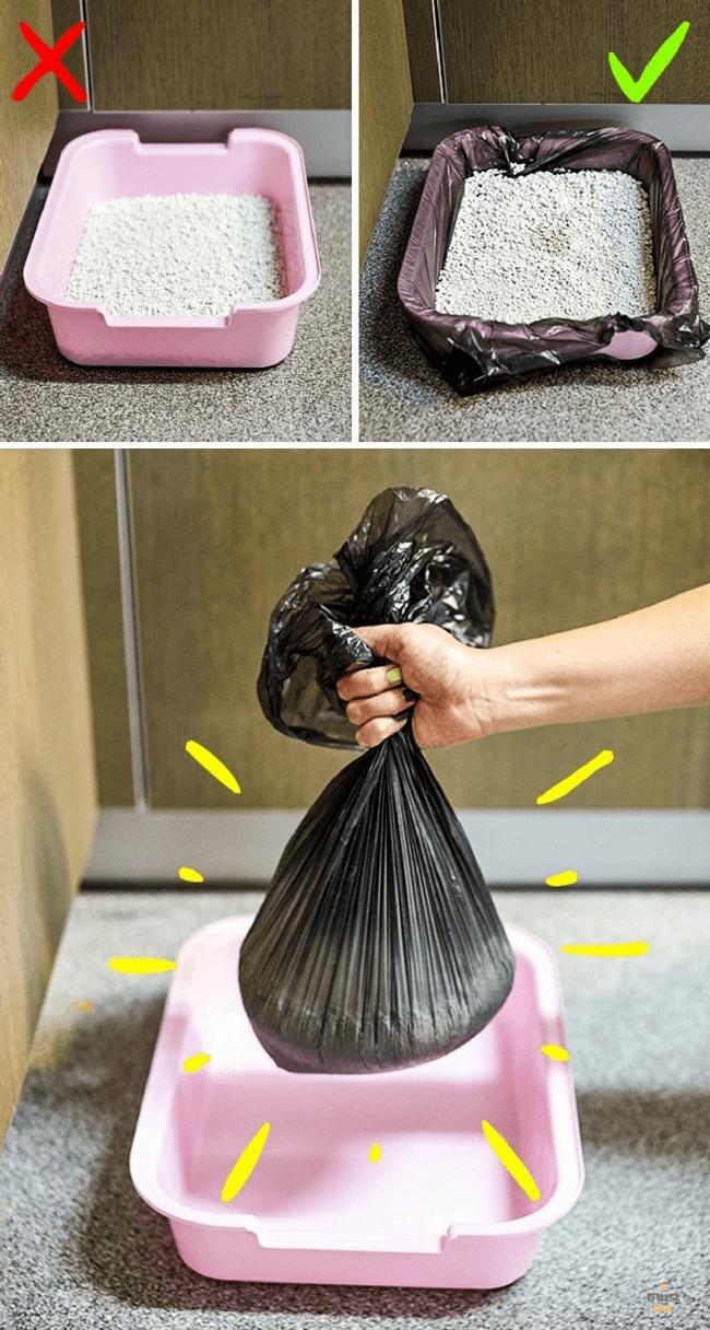мешок для мусора на лоток