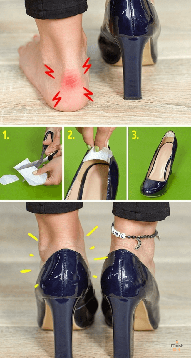 прокладка вместо пластыря на обувь