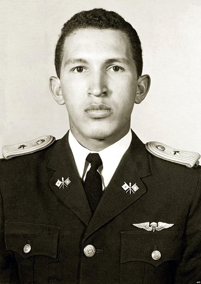 Уго Чавес в военной академии