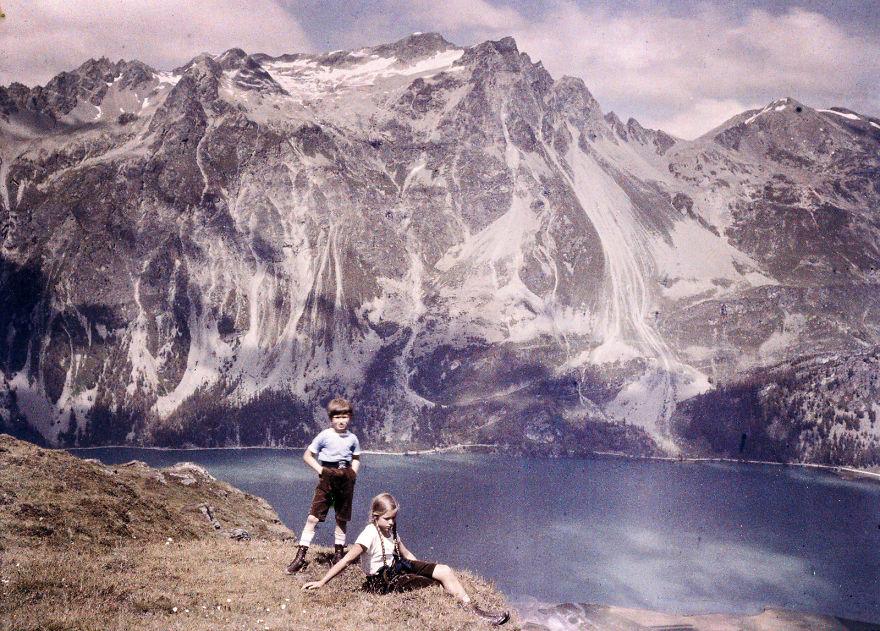 Хайнц и Ева на холме, 1925
