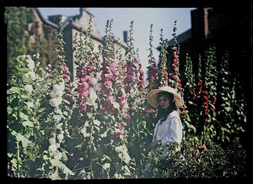 Девушка в саду, 1908 г.