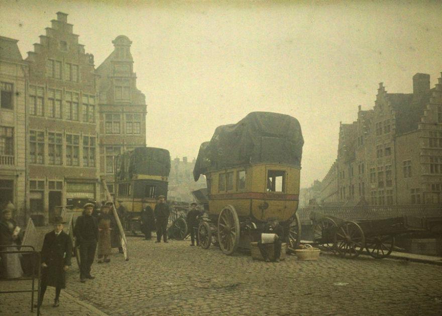 Дилижансы в Генте, 1912 г.