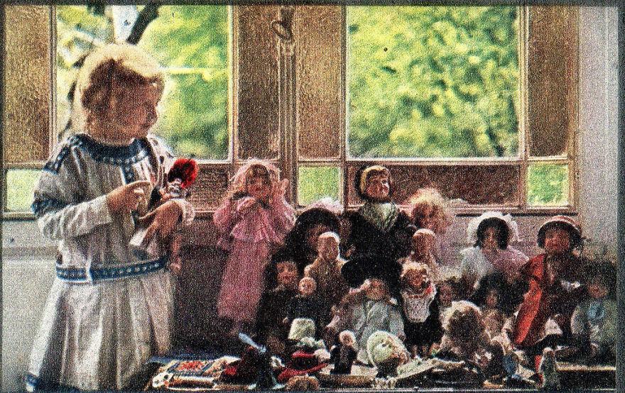 Дочь Луи Люмьера и ее куклы