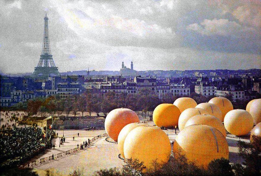 Гигантские апельсины, Париж, 1914 г.