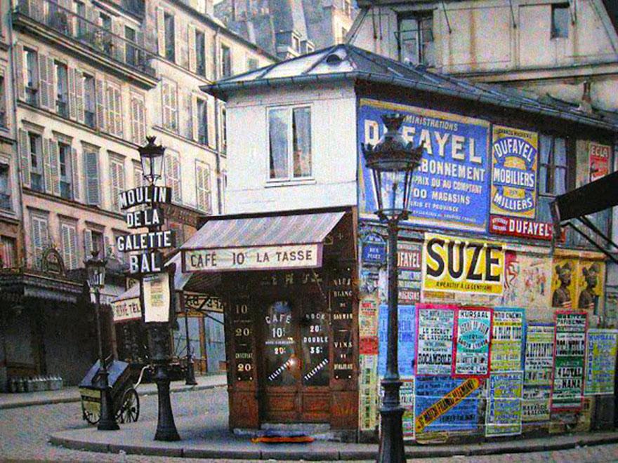 """Кафе """"La Tasse"""", Париж, 1914 г."""