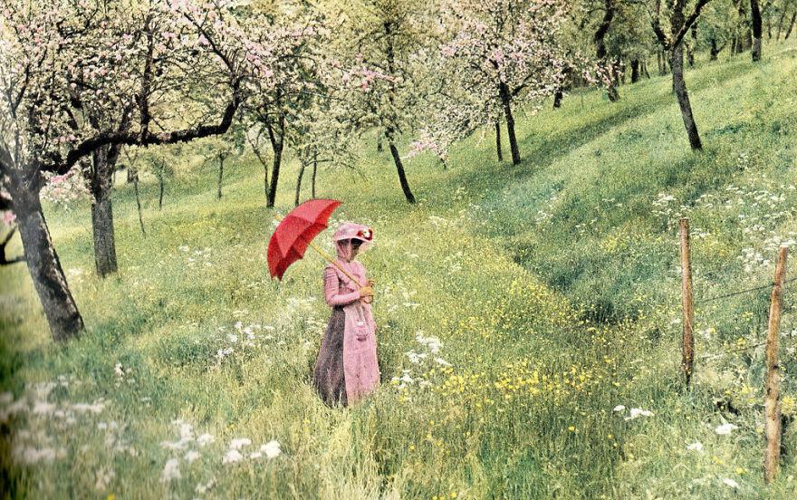 Одна из первых цветных фотографий снятых Луи Лумьером