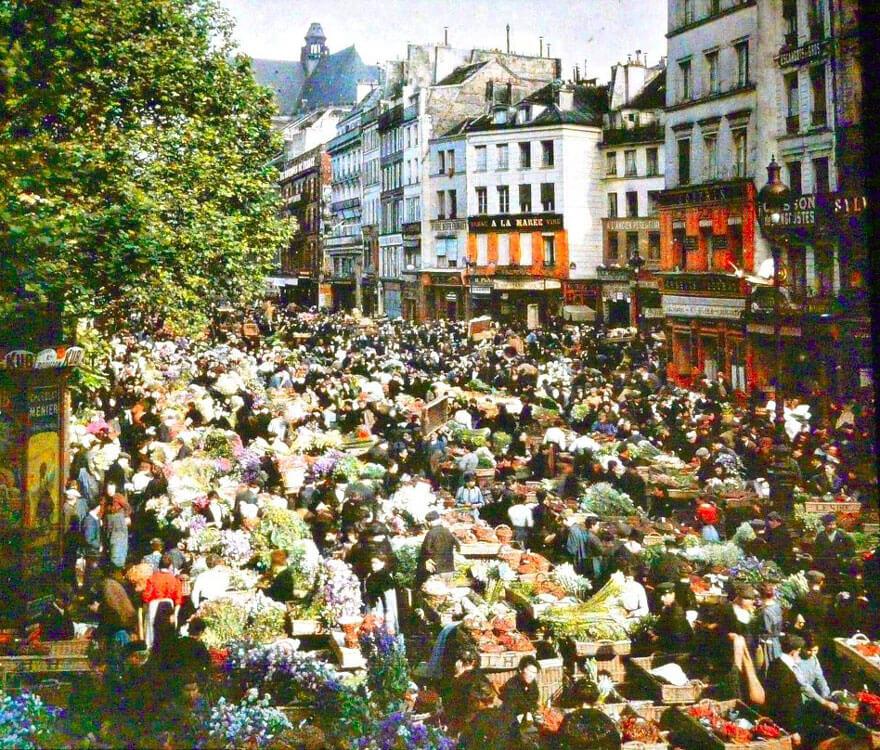 Открытый рынок, Париж, 1914 г.