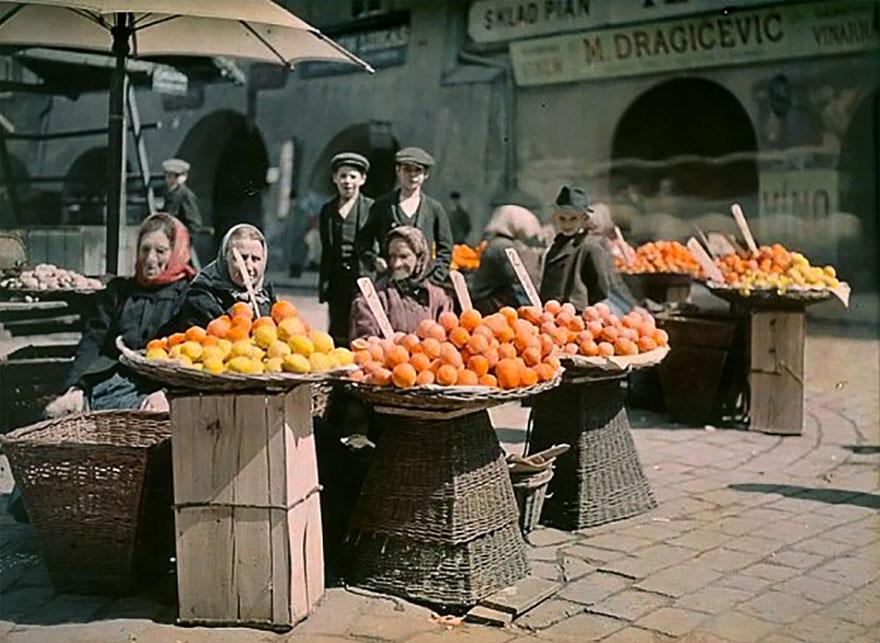 «Рыночная площадь». Прага, 1910 г.