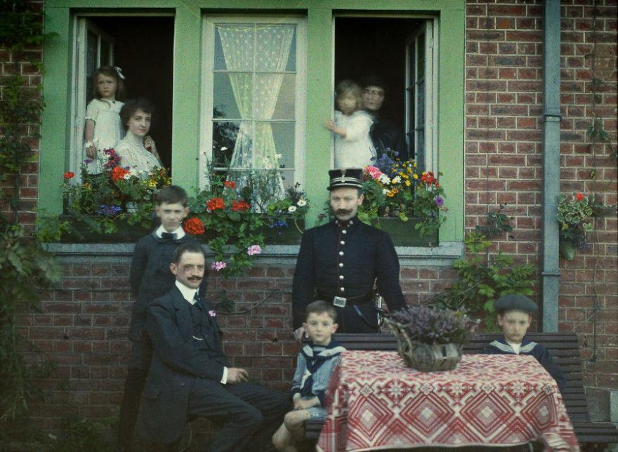 Семейный портрет, Бельгия, 1913 г.