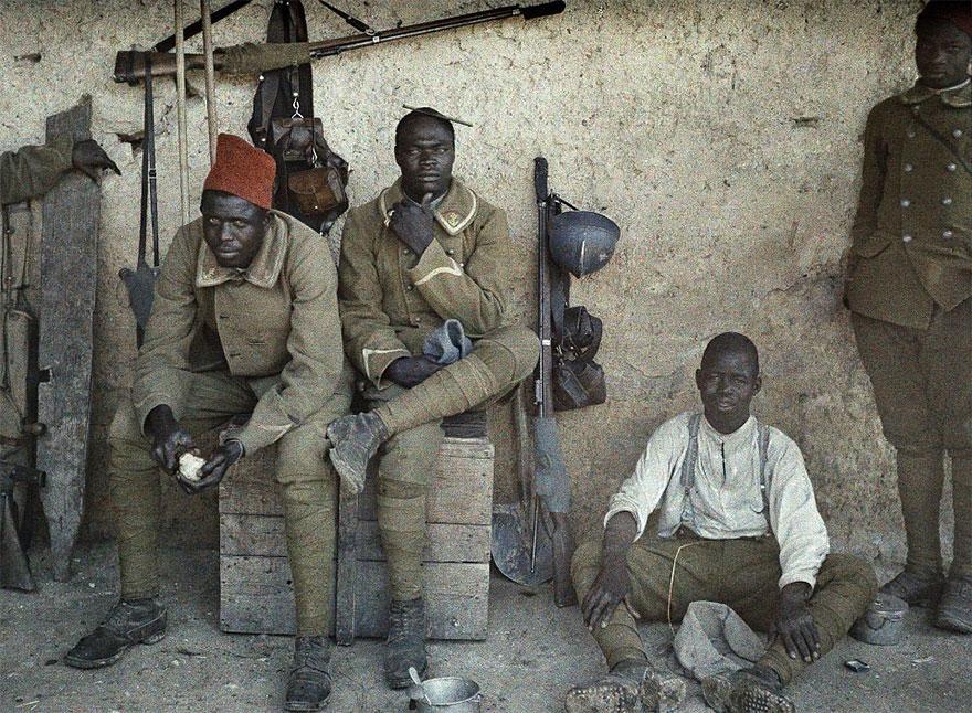 Сенегальские солдаты, служившие во французской армии, 16 июня 1917 года