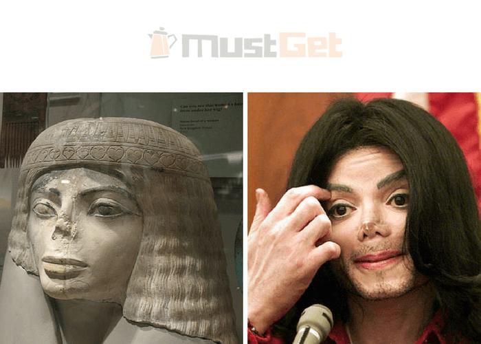 Египетский бюст и Майкл Джексон