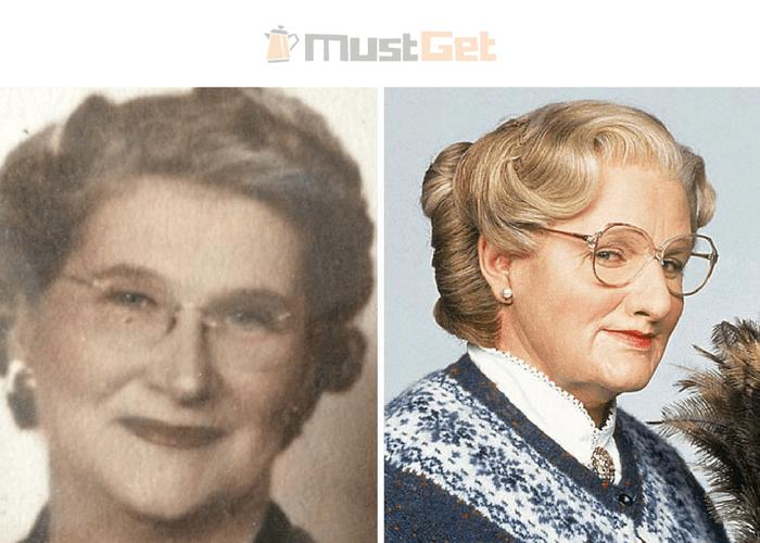 Бабушка моей подруги выглядит почти какМиссис Даутфайр