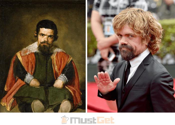 Испанский художник Диего Веласкес (1599-1660) и Питер Динклэйдж