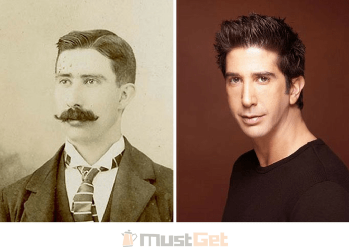 Джентльмен из 1800-х годов и Дэвид Швиммер