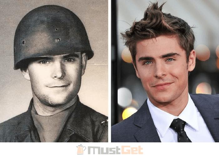 Папу только что забрали в армию, 1956 год. Кажется, выглядит как Зак Эфрон