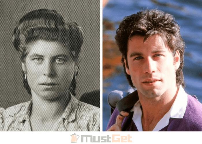 Бабушка моего друга в молодости выглядела просто сестрой Джона Траволты
