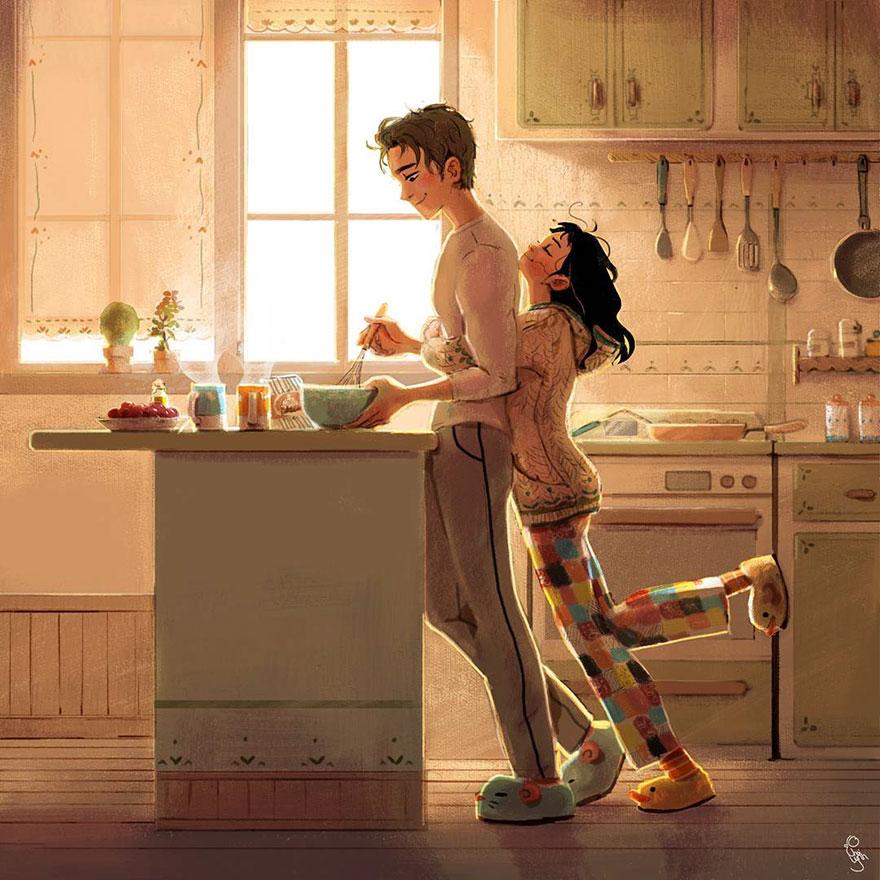 7 захватывающих иллюстраций, доказывающих, что настоящая любовь заключается в мелочах.
