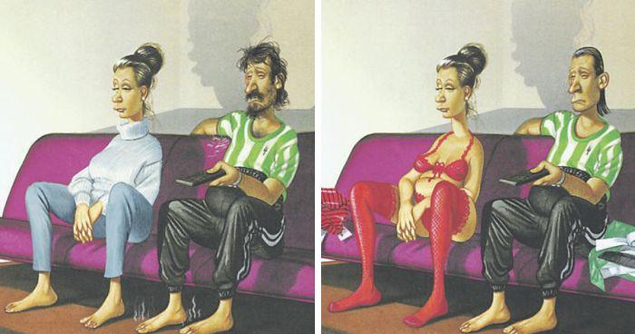 20+ честных иллюстраций о том, в кого превращается человечество.