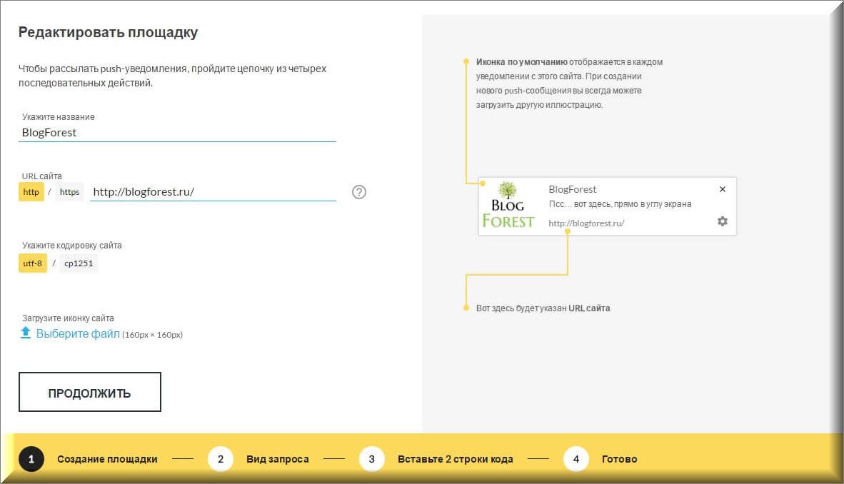 BlogForest-vvod-dannyih-pri-registratsii-push-world