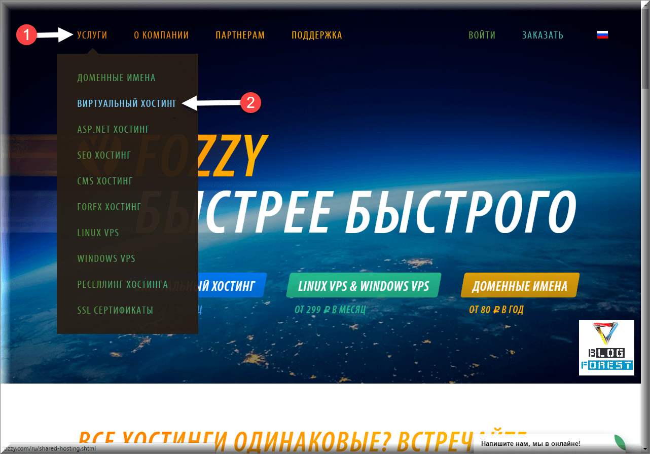 Главная страница Fozzy