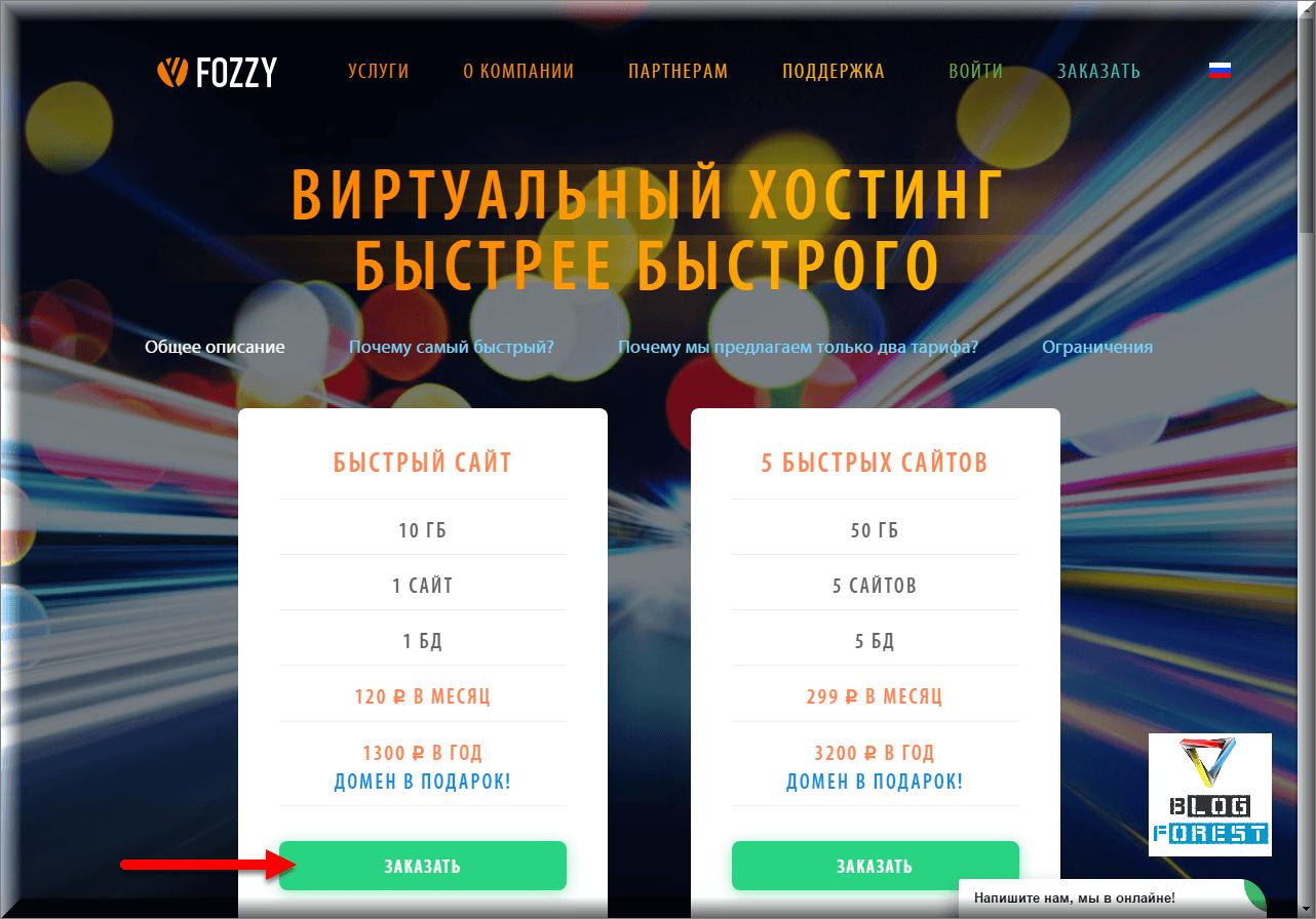 Выбор хостинга Fozzy