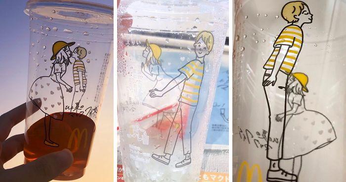 McDonald's в Японии случайно создал неуместные стаканы, но людям они понравились.